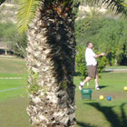 Enjoy walking around in the sun on a championship spanish golf course.